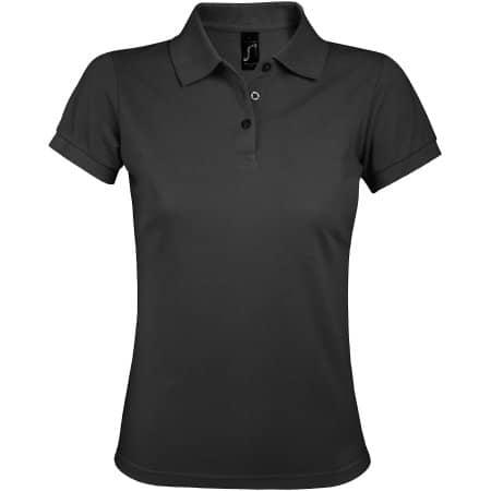 Women`s Polo Shirt Prime in Dark Grey (Solid) von SOL´S (Artnum: L528