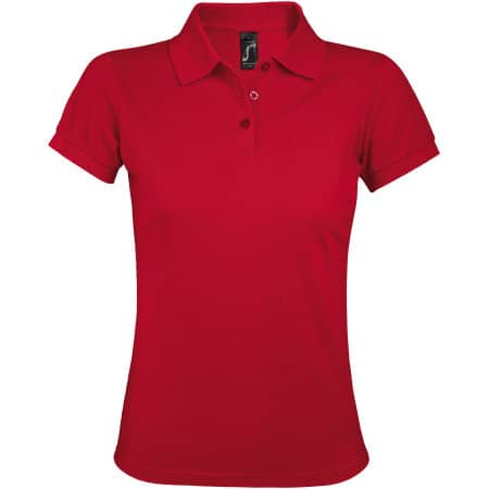 Women`s Polo Shirt Prime in Red von SOL´S (Artnum: L528