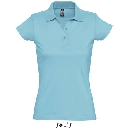 Women`s Polo Shirt Prescott in Atoll Blue von SOL´S (Artnum: L534