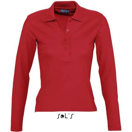 Ladies` Longsleeve Polo Podium von SOL´S (Artnum: L535