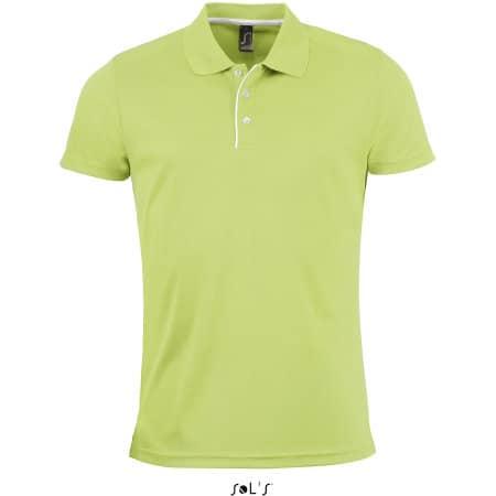 Men`s Sports Polo Shirt Performer in Apple Green von SOL´S (Artnum: L542