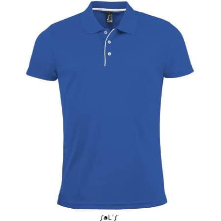 Men`s Sports Polo Shirt Performer in Royal Blue von SOL´S (Artnum: L542