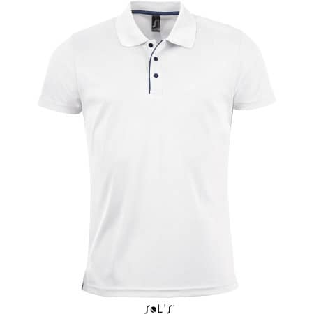 Men`s Sports Polo Shirt Performer in White von SOL´S (Artnum: L542