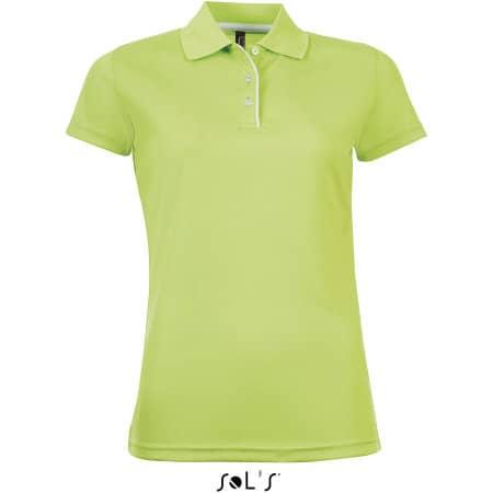 Women`s Sports Polo Shirt Performer in Apple Green von SOL´S (Artnum: L544