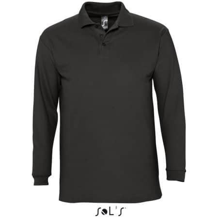 Longsleeve Polo Winter II in Black von SOL´S (Artnum: L549