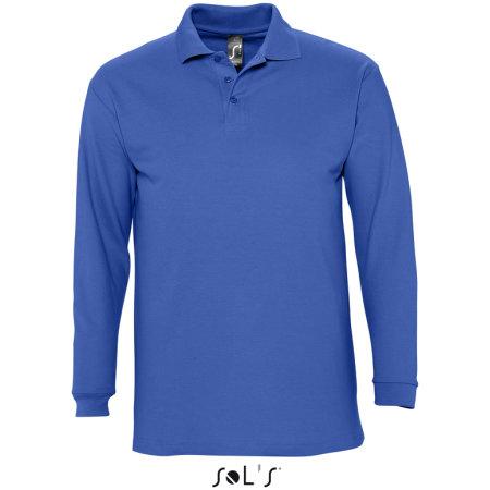 Longsleeve Polo Winter II in Royal Blue von SOL´S (Artnum: L549