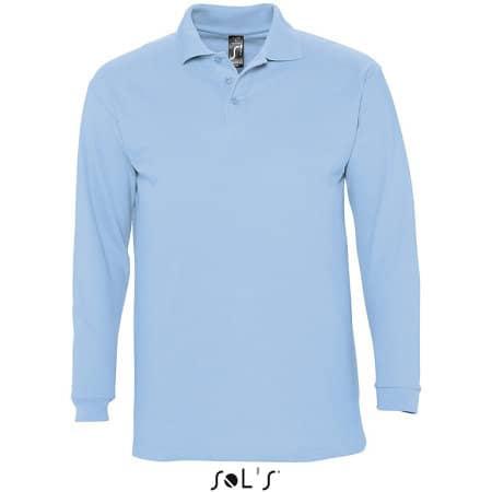 Longsleeve Polo Winter II in Sky Blue von SOL´S (Artnum: L549