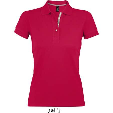 Women Polo Shirt Portland in Red Grey (Solid) von SOL´S (Artnum: L588