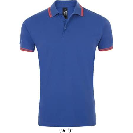Men`s Polo Shirt Pasadena in Royal Blue|Neon Coral von SOL´S (Artnum: L591