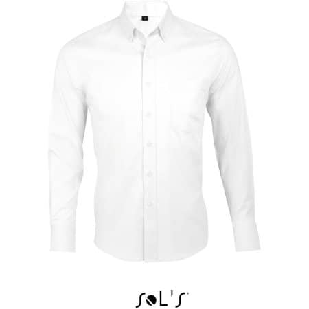 Long Sleeve Shirt Business Men in White von SOL´S (Artnum: L602