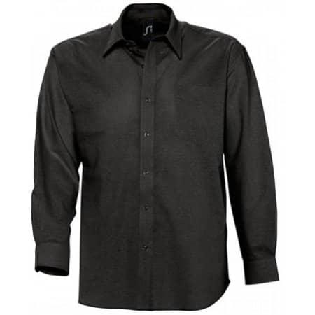 Herren Oxford-Langarmhemd Boston in Black von SOL´S (Artnum: L613