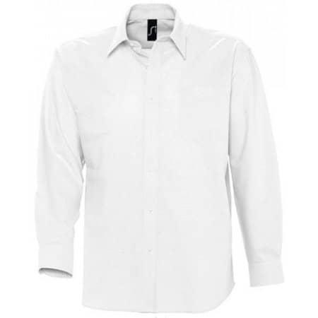 Herren Oxford-Langarmhemd Boston in White von SOL´S (Artnum: L613