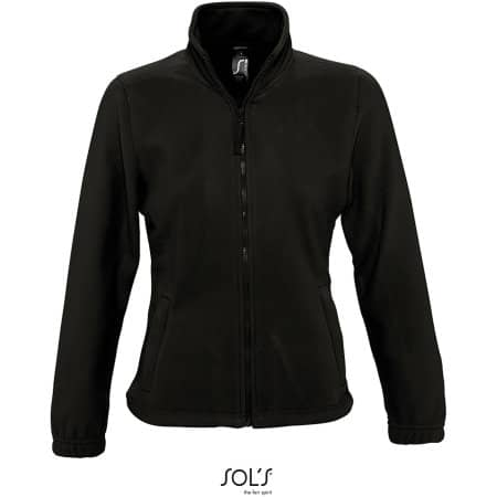 Women`s Fleecejacket North in Black von SOL´S (Artnum: L745