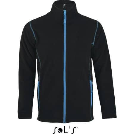 Micro Fleece Zipped Jacket Nova Men in Black|Aqua von SOL´S (Artnum: L827