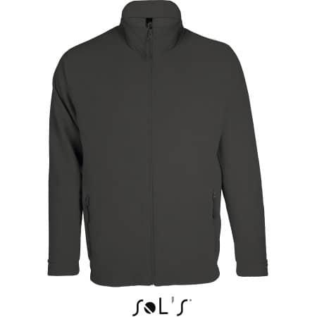 Micro Fleece Zipped Jacket Nova Men in Charcoal Grey (Solid) von SOL´S (Artnum: L827