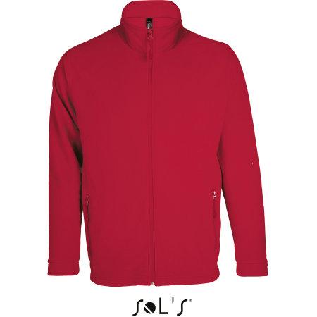Micro Fleece Zipped Jacket Nova Men in Red von SOL´S (Artnum: L827