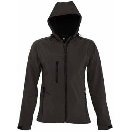 Hooded Softshell Jacket Replay in Black von SOL´S (Artnum: L848
