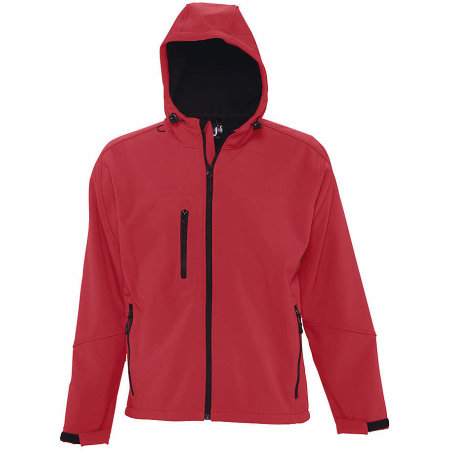 Hooded Softshell Jacket Replay in Pepper Red von SOL´S (Artnum: L848