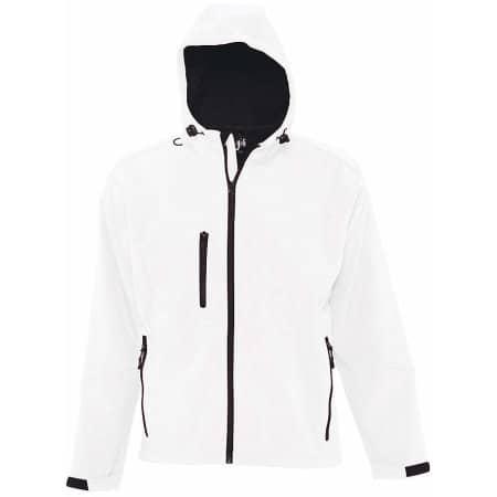 Hooded Softshell Jacket Replay in White von SOL´S (Artnum: L848