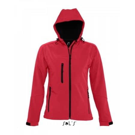 Women`s Hooded Softshell Jacket Replay in Pepper Red von SOL´S (Artnum: L849
