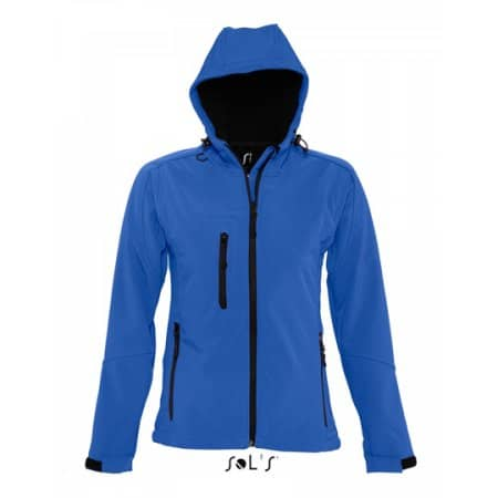 Women`s Hooded Softshell Jacket Replay in Royal Blue von SOL´S (Artnum: L849