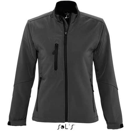 Ladies` Softshell Jacket Roxy in Charcoal Grey (Solid) von SOL´S (Artnum: L863