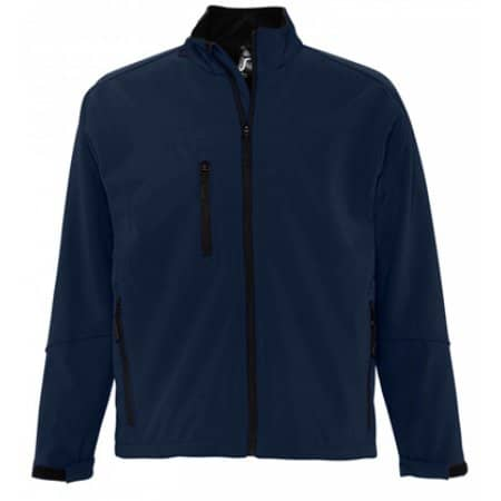 Men`s Softshell Jacket Relax in Black von SOL´S (Artnum: L866