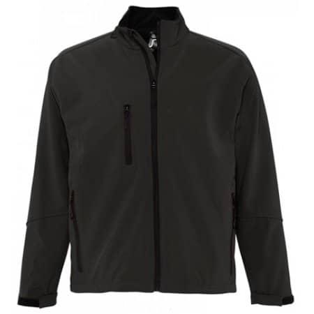 Men`s Softshell Jacket Relax in Charcoal Grey (Solid) von SOL´S (Artnum: L866