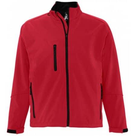 Men`s Softshell Jacket Relax in Pepper Red von SOL´S (Artnum: L866