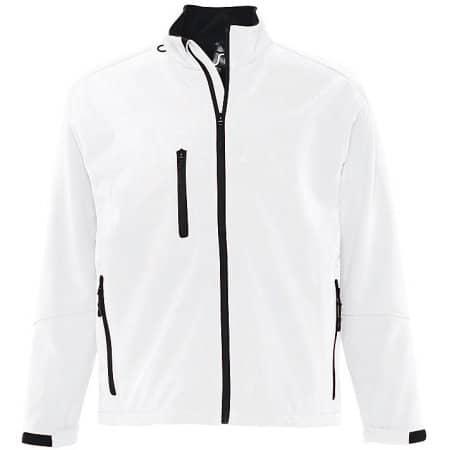 Men`s Softshell Jacket Relax in White von SOL´S (Artnum: L866