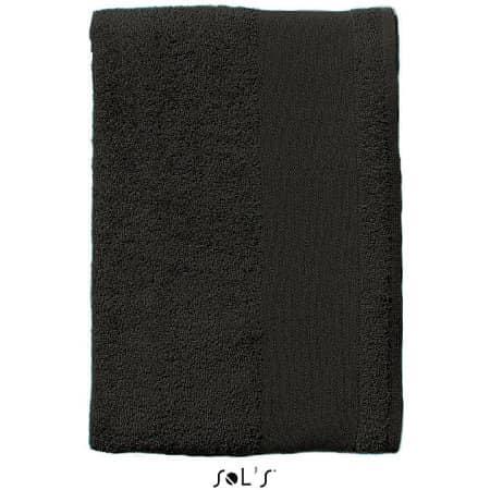 Hand Towel Island 50 in Black von SOL´S (Artnum: L890