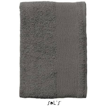 Hand Towel Island 50 in Dark Grey (Solid) von SOL´S (Artnum: L890