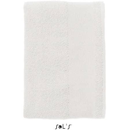 Hand Towel Island 50 in White von SOL´S (Artnum: L890