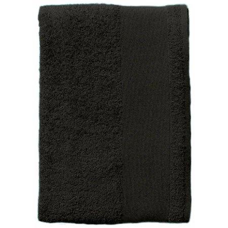 Bath Towel Island 70 in Black von SOL´S (Artnum: L891