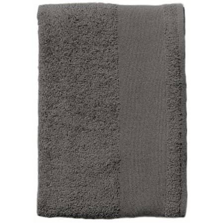 Bath Towel Island 70 in Dark Grey (Solid) von SOL´S (Artnum: L891