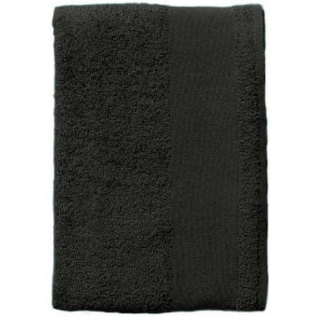 Hand Towel Bayside 50 in Dark Grey (Solid) von SOL´S (Artnum: L897