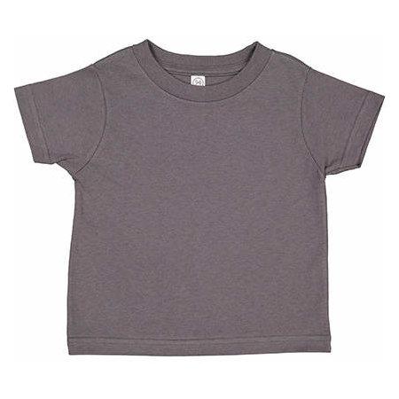 Toddler Fine Jersey T-Shirt in Charcoal von Rabbit Skins (Artnum: LA3321