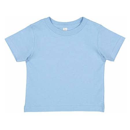 Toddler Fine Jersey T-Shirt in Light Blue von Rabbit Skins (Artnum: LA3321