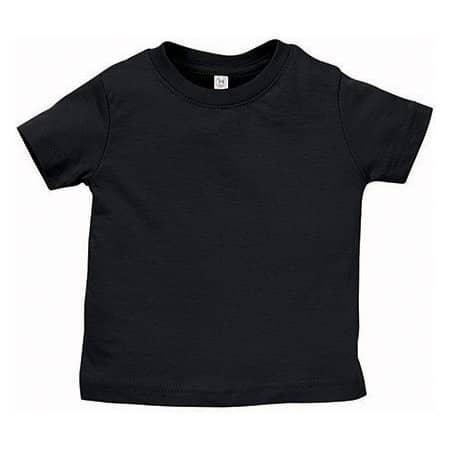 Infant Fine Jersey T-Shirt in Black von Rabbit Skins (Artnum: LA3322