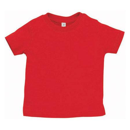 Infant Fine Jersey T-Shirt in Red von Rabbit Skins (Artnum: LA3322