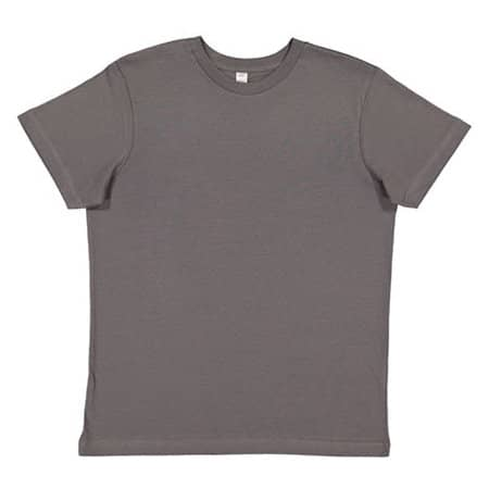 Youth Fine Jersey T-Shirt in Charcoal von Rabbit Skins (Artnum: LA6101