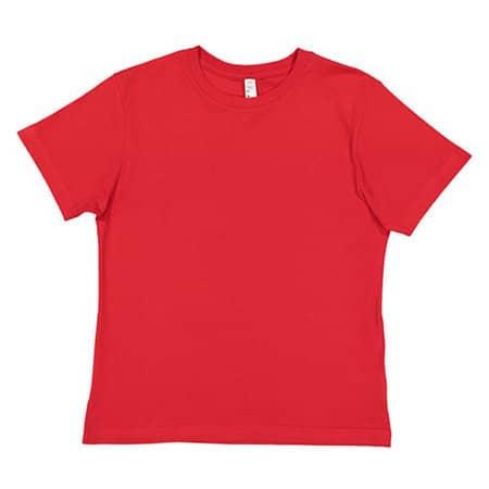 Youth Fine Jersey T-Shirt in Red von Rabbit Skins (Artnum: LA6101