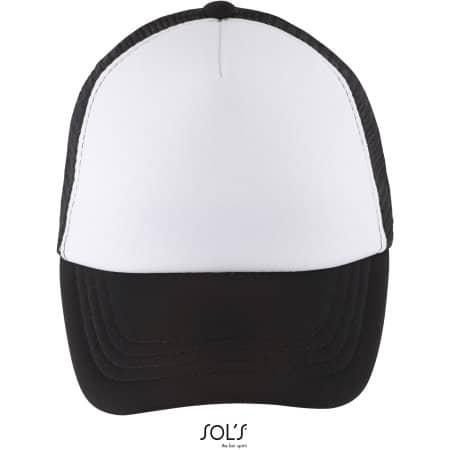 Bubble Kids Cap in White|Black von SOL´S (Artnum: LC03091