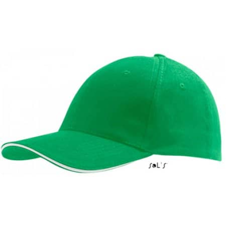 Six Panel Cap Buffalo in Kelly Green|White von SOL´S (Artnum: LC88100