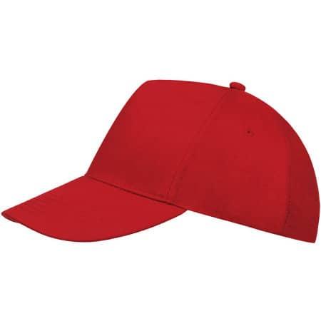 Five Panel Cap Buzz in Red von SOL´S (Artnum: LC88119