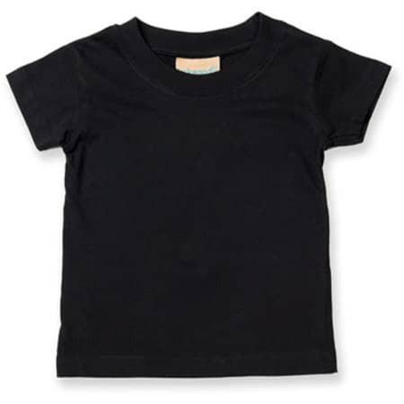 Baby-Kids` Crew Neck T-Shirt in Black von Larkwood (Artnum: LW020