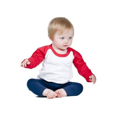 Long Sleeved Baseball T Shirt von Larkwood (Artnum: LW025