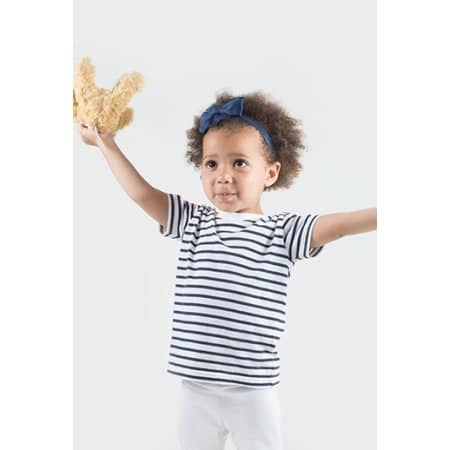 Short Sleeved Stripe T Shirt von Larkwood (Artnum: LW027