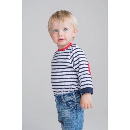 Striped Long Sleeved T-Shirt von Larkwood (Artnum: LW028
