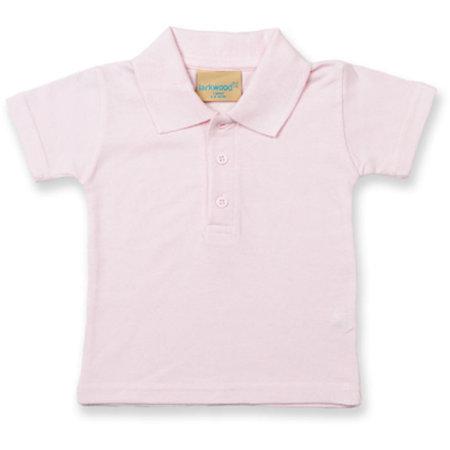 Kids` Polo Shirt in Pale Pink von Larkwood (Artnum: LW040